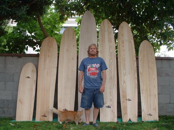 Jon Wegener's Alaia Wooden Quiver