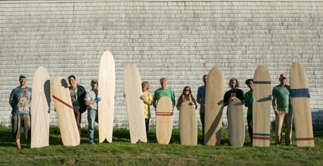 Wegener and Friends Wooden Surfboards Quiver